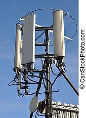 maste, und, antennen, zellular, systeme