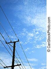 masten, hintergrund, in, der, himmelsgewölbe
