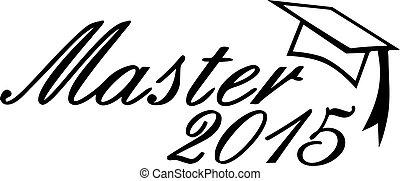 Master 2015 graduation hat