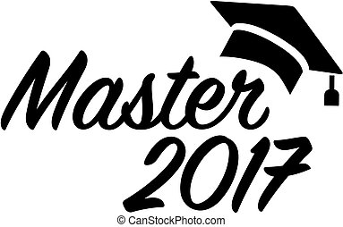 Master 2017 with graduation hat