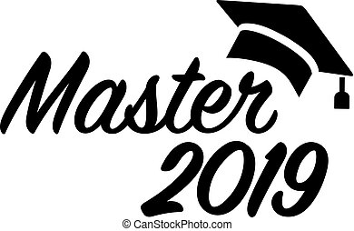 Master 2019 with mortarboard