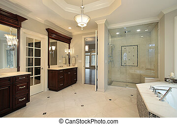Master bath in luxury home - Master bath in new construction...