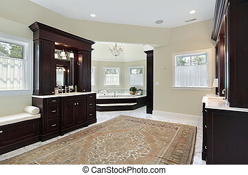 Master bath with separate tub room - Master bath in luxury ...