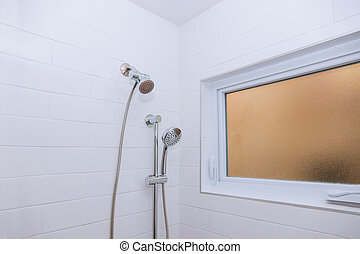 Master bathroom with in shower new apartment