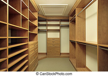 Master bedroom closet - Large master bedroom closet with ...