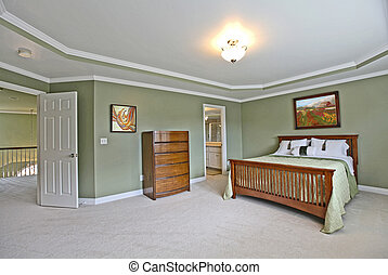 Master bedroom - Large master bedroom with a door open to...