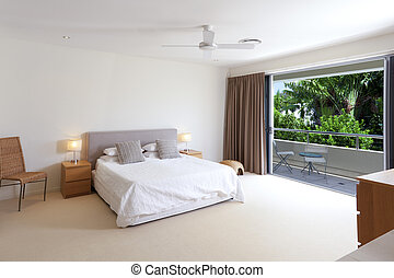 Master bedroom - Large master bedroom with king size bed and...