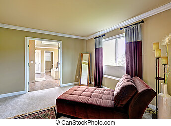 Master bedroom with sitting area.