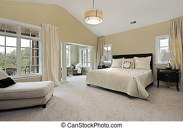 Master bedroom with sitting room - Master bedroom in luxury...