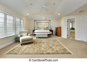 Master bedroom with tray ceiling - Master bedroom in luxury...