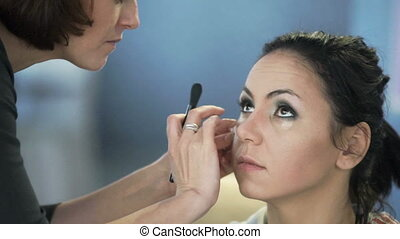 Master class for make-up artists. Sculpting make up.