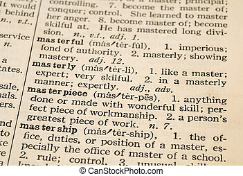 Master Definition in 1935 Dictionary