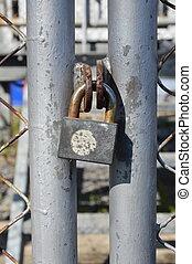 master key lock iron net door