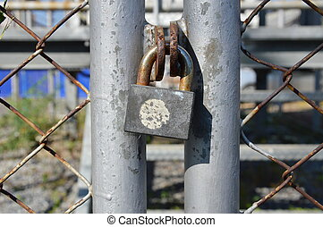 master key lock iron wire door