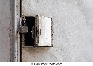 master key lock on small door