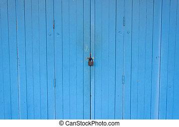 master key on blue door