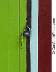 master key on color door