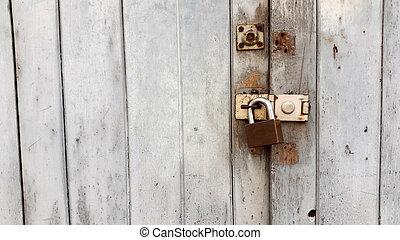 Master key on the door