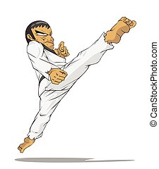 master., marcial, corea, arte, taekwondo