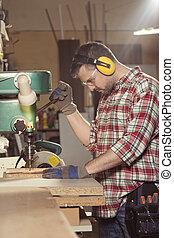 Master of craft during work
