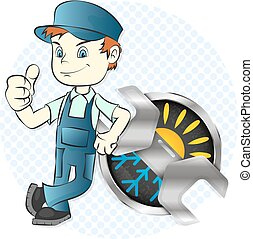 Master of repair and maintenance of air conditioners...