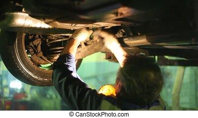 Master repairs car