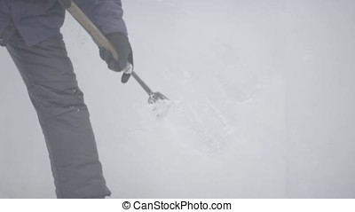 Master Scraper Performs A Movement Across The Ice To Create...