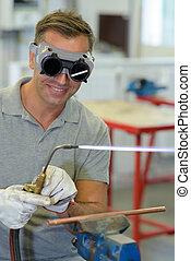 master welder at work