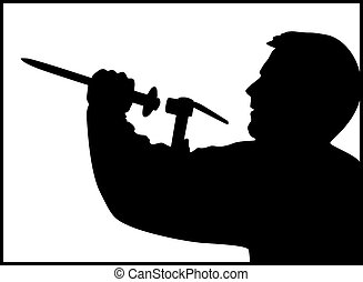 Master works silhouette vector