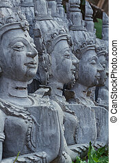 masterpiece of traditional Thai style stucco art old