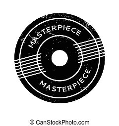 Masterpiece rubber stamp. Grunge design with dust scratches....