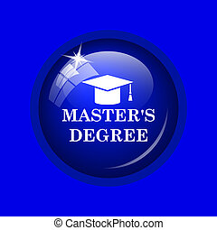 master's, degré, icône