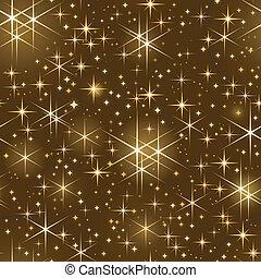 mastro, céu estrelado, seamless, natal