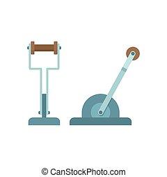 maszyna, dźwignia, część, mechaniczny