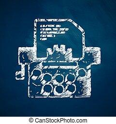 maszyna do pisania, ikona