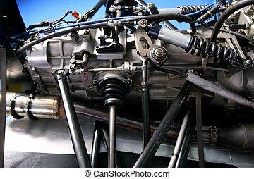 maszyna, formułkowy, szczegół, wóz