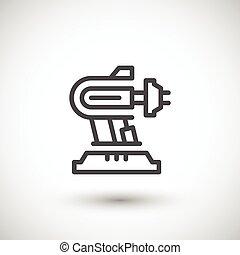 maszyna, kreska, część, robotic, ikona