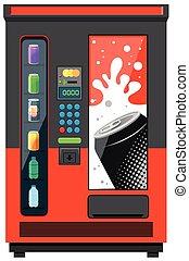 maszyna, miękki, vending, pije
