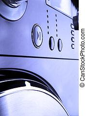maszyna, panowanie, myć, pannel