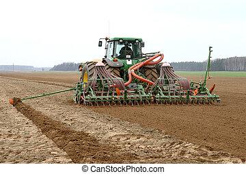 maszyna, pole, nagniotek, żęcie