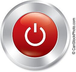 maszyna, sticker., moc, button., obrót, icon.