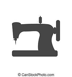maszyna, szycie, ilustracja