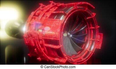 maszyna, turbina, strony, gagat