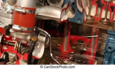 maszyna, wóz, praca, tłok