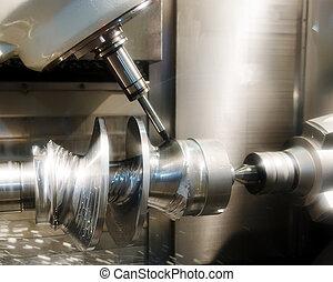 maszyna, wiertnictwo, workpiece