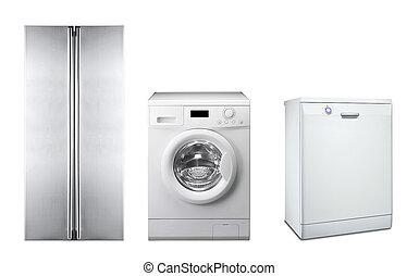 maszyna, zmywarka do naczyń, myć, chłodnia