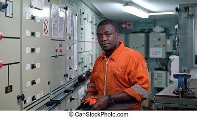 maszyna, znaczkownia, ecr, afrykanin, inżynier, marynarka,...