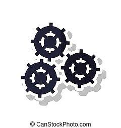 maszynowa część, projektować, odizolowany, mechanizmy