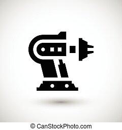 maszynowa część, robotic, ikona