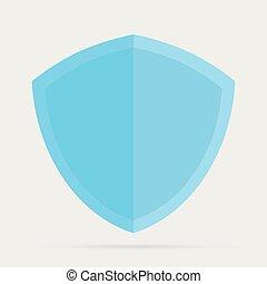 matériel, bouclier, icon., sécurité, logo, illustration., anti, style., virus, plat, conception, protection